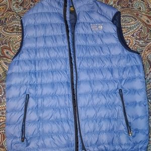 Mountain Hardwear Blue Down Feather Vest